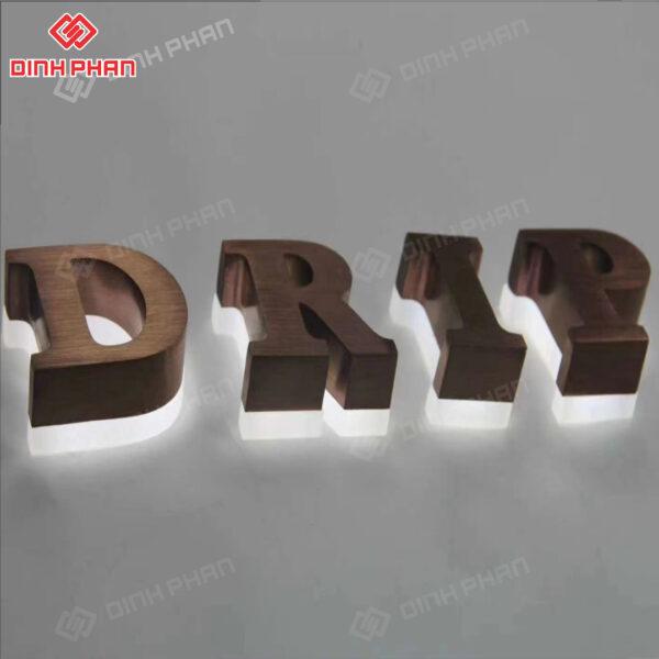 chữ gỗ đế mica có đèn